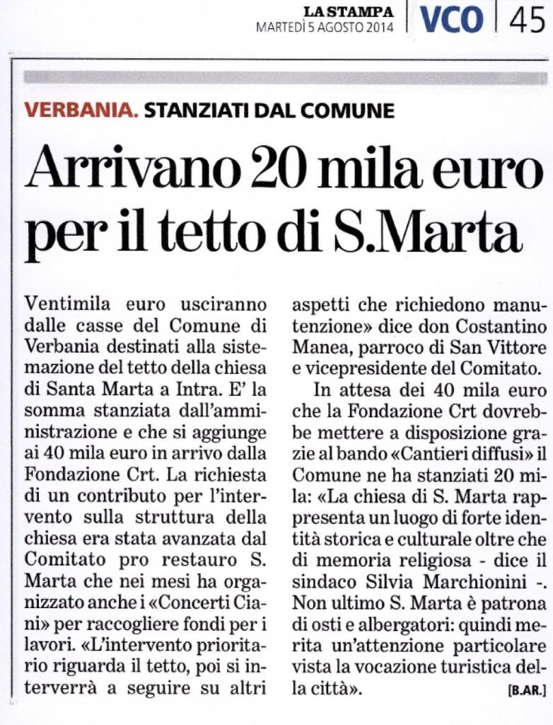 La Stampa 05.09.2014